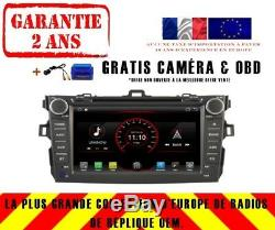 Autoradio DVD Gps Navi Android 9.1 Dab+ Usb Toyota Corolla (07-12) K6124