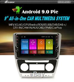 Autoradio Erisin ES3126S 9 Volkswagen Skoda Octavia Dsp Android 9.0 Pour Navi