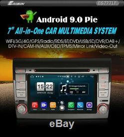 Autoradio Erisin ES7771F 7 Fiat Bravo Android 9.0 Pour Wifi Dvb-T Navi DVD 4G