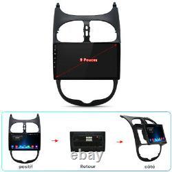 Autoradio GPS Navi 2DIN Pour peugeot 206 2001-2008 Android 10.0 Bluetooth USB