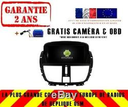 Autoradio Gps Navi Android 9.0 4gb Dab+ Wifi Peugeot 207 207cc (07-14) Rv5395