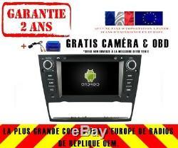 Autoradio Gps Navi Android 9.0 Dab+ Wifi Bmw E90 E91 E92 E93 Auto A/c Rv5713
