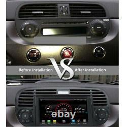 Autoradio Navi Sat pour Fiat 500 2007 2015 Android 10 Stéréo Headunit Carplay