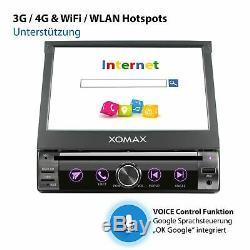 Autoradio avec Android 10 2Gb 32Gb Ram Navi Dvd Bluetooth Wifi 3G 4G Dab+ 1Din