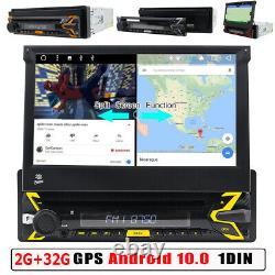 Autoradio avec Android 10 2 Go 32 Go Navi GPS Bluetooth Wifi DVD Dab Obd2 1DIN