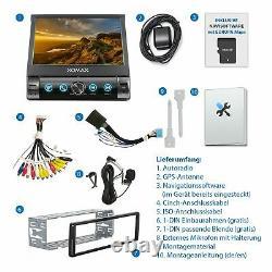 Autoradio avec Gps auto Bluetooth Miroir de l'écran Sd Usb Aux 7 couleur 1Din