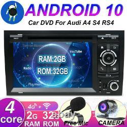 Autoradio pour Audi A4 S4 RS4 B9 B7 EXEO SEAT Android 10 GPS Navi CD/DVD DAB+