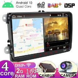 Autoradio pour VW Passat Golf Tiguan Android 10.0 GPS Navi Car DSP Wifi DAB USB