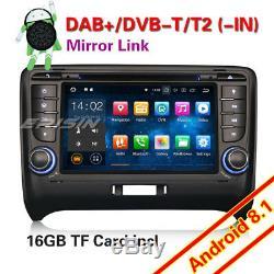 DAB+ Android 8.1 AUDI TT MK2 Autoradio Navi WiFi TNT-IN BT 4G USB CD DVR OBD GPS