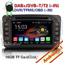 DAB+ Android 8.1 Autoradio Mercedes Benz C/CLK/G Class Vito Viano W203 W209 Navi