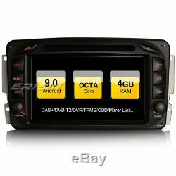 DAB+ Android 9.0 Autoradio Mercedes Benz C/CLK/G Class Viano Vito WIFI+Navi OBD2