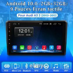 DAB+ Autoradio Pour Audi A3 2 (2003-2013) Navi GPS Android 10.0 WIFI DSP 2+32GB