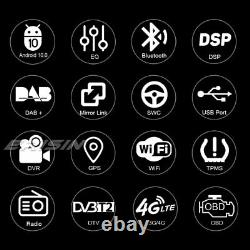 DAB+Navi DSP Autoradio Android 10.0 Toyota Corolla Vios Avanza Hiace Hilux Prado