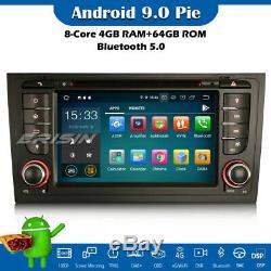 DSP Android 9.0 DAB+ Autoradio Wifi Navi 8-Core DVD OBD2 AUDI A6 S6 RS6 allroad