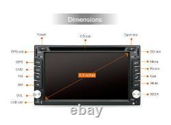Double 2DIN autoradio lecteur CD DVD universel Android 10.0 GPS Navi BT caméra