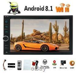 Double 2Din GPS Android 8.1 Autoradio WiFi OctaCore Radio OBD Bluetooth Navi USB