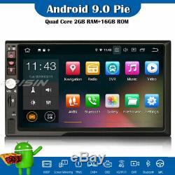 Double Din DAB+Android 9.0 Autoradio GPS WiFi DVR USB TNT OBD Bluetooth RDS Navi
