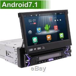 EU Map + Android 1DIN 7 Autoradio Bluetooth Car DVD Player WIFI GPS Navi FM AUX