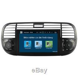 Fiat 500 Autoradio Android 8.0 GPS 3D Navi Écran Tactile DVD Bluetooth Wifi USB