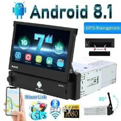 GPS Navi Android 8.1 7'' 1 Din Autoradio Bluetooth Touch Screen Wifi MP5 USB FM