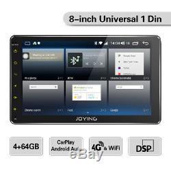 JOYING Universal 8 In Android 8.1 Simple1 Din Zlink GPS Car Radio Navi stéréo SD