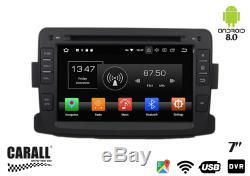KD7083 Autoradio Android 8,0 Dacia Duster GPS DVD USB SD Wi-Fi Bluetooth Navi