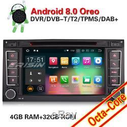 Octa Core 7Android 8.0 Autoradio for Touareg T5 Multivan Navi GPS DAB+Bluetooth