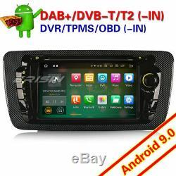 Octa-Core Android 9.0 Autoradio Bluetooth Navi GPS pour Seat IBIZA DAB+ TPMS RDS