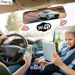 Phisung 4G Autoradio Android Voiture Bluetooth 1080P DVR GPS Navi WiFi Dash Cam