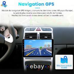 Pour Peugeot 307 2002-2013 Android 10 2 Din Autoradio 32G WIFI GPS Navi DAB USB