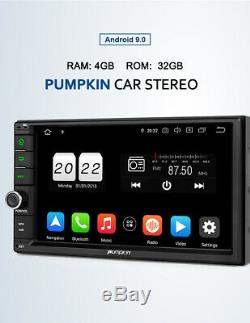 Pumpkin 2DIN 7 Android 9.0 Autoradio GPS Navi RAM 4 Go ROM 32 Go WiFi USB DAB