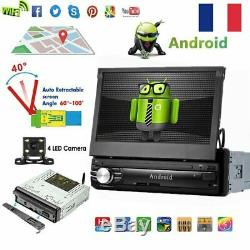 Quad Core Android 6.1 3G/4G WiFi 7 1DIN Autoradio GPS Navi BT Stéréo Radio+ Cam