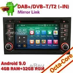 TNT Android 9.0 Autoradio Navi 8-Core BT GPS DAB+ AUDI A4 SEAT EXEO S4 RS4 RNS-E