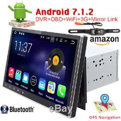 Universal 2 DIN Android 7.1 Autoradio GPS NAVI WiFi 3G Bluetooth TNT OBD CAM+ SD